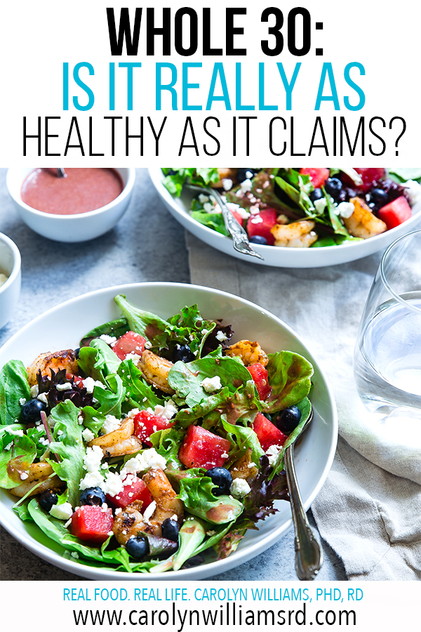 Whole30: Is It Really As Healthy As It Claims? CarolynWilliamsRD.com
