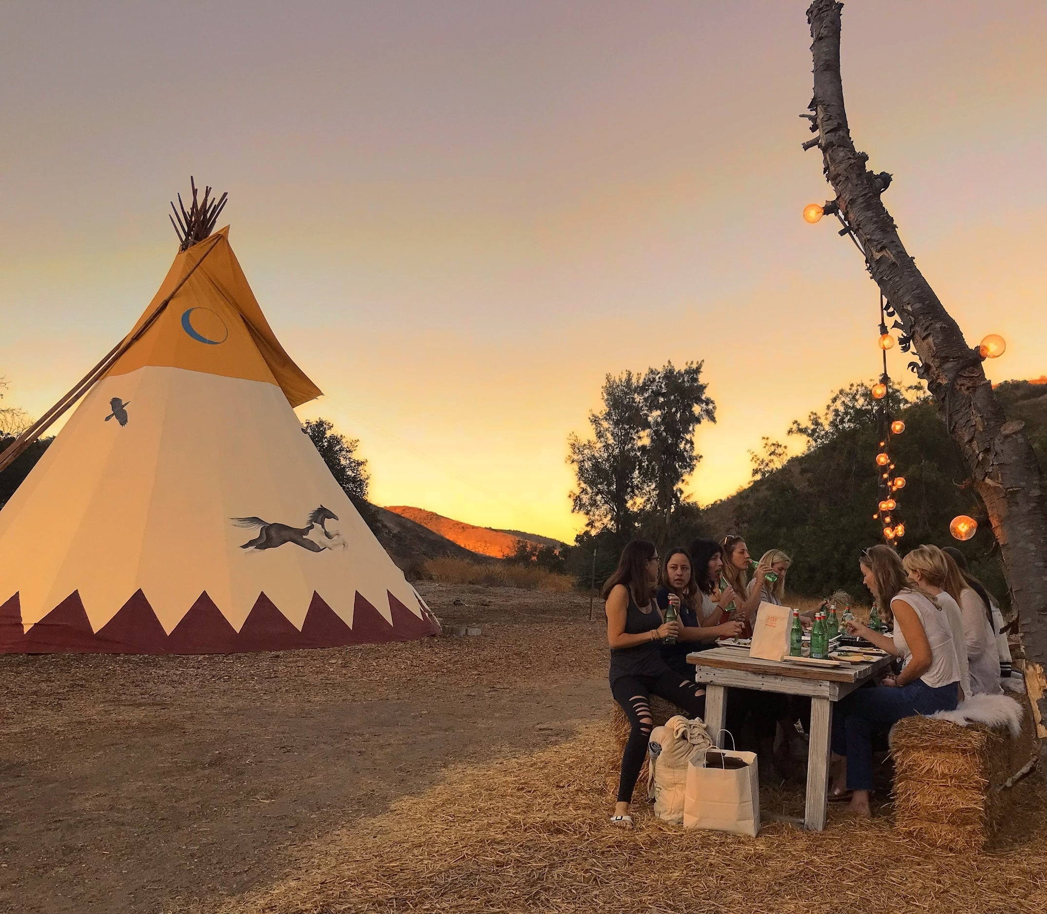 A true Community - The Tipi burned down in the Malibu wildfires of Fall 2018. We thought that was the end of our story. However, our community felt a calling.Without any requests or prompting, they rallied together to raise the funds for a new tipi in just one week so that the healing and transformations and connection to something  greater could continue.