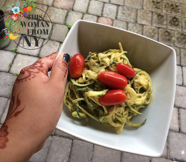 Zucchini Noodles & Avocado Sauce | THISWOMANFROMNY