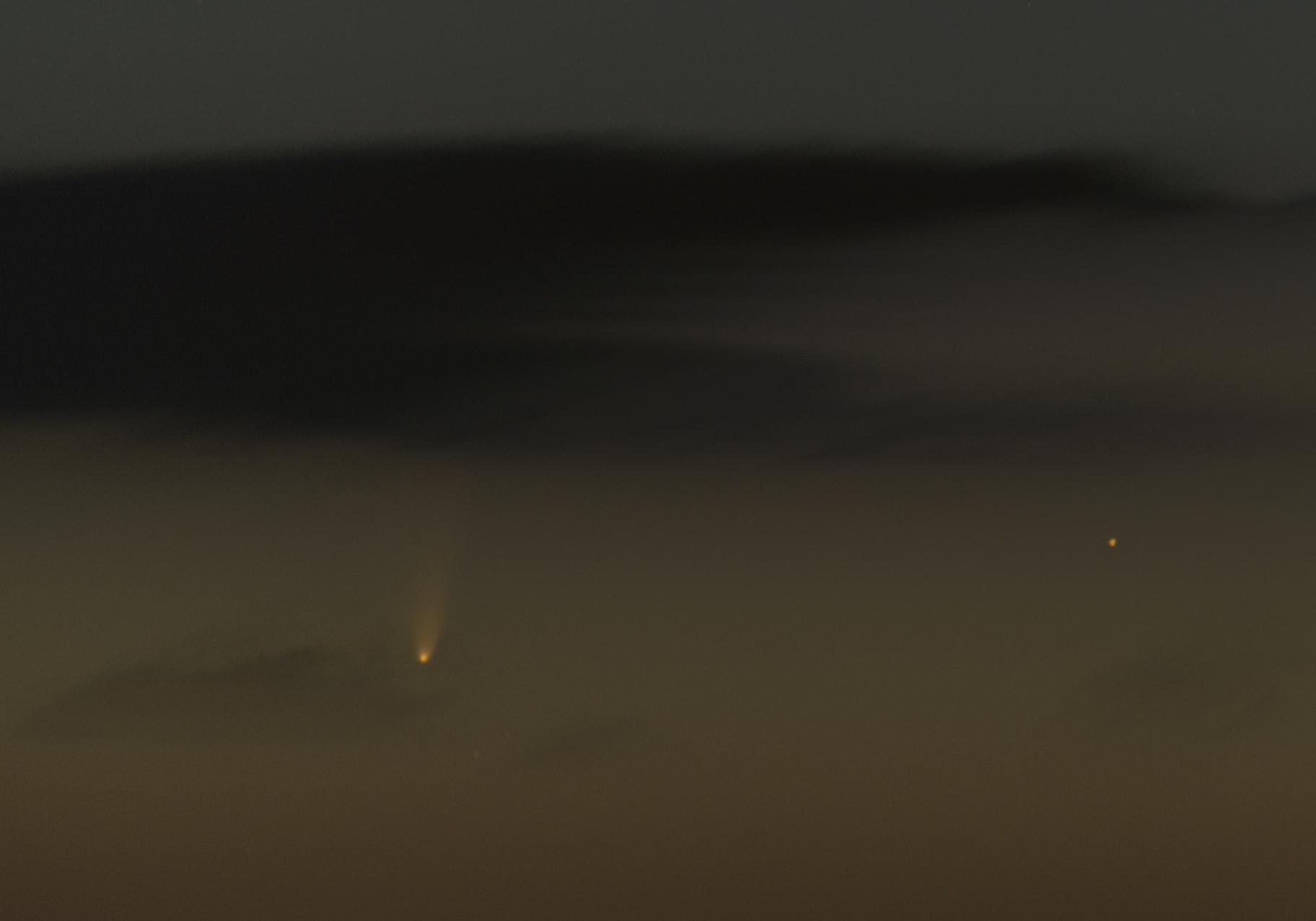 Comet 2011 L4 PANSTARRS near Iota Ceti