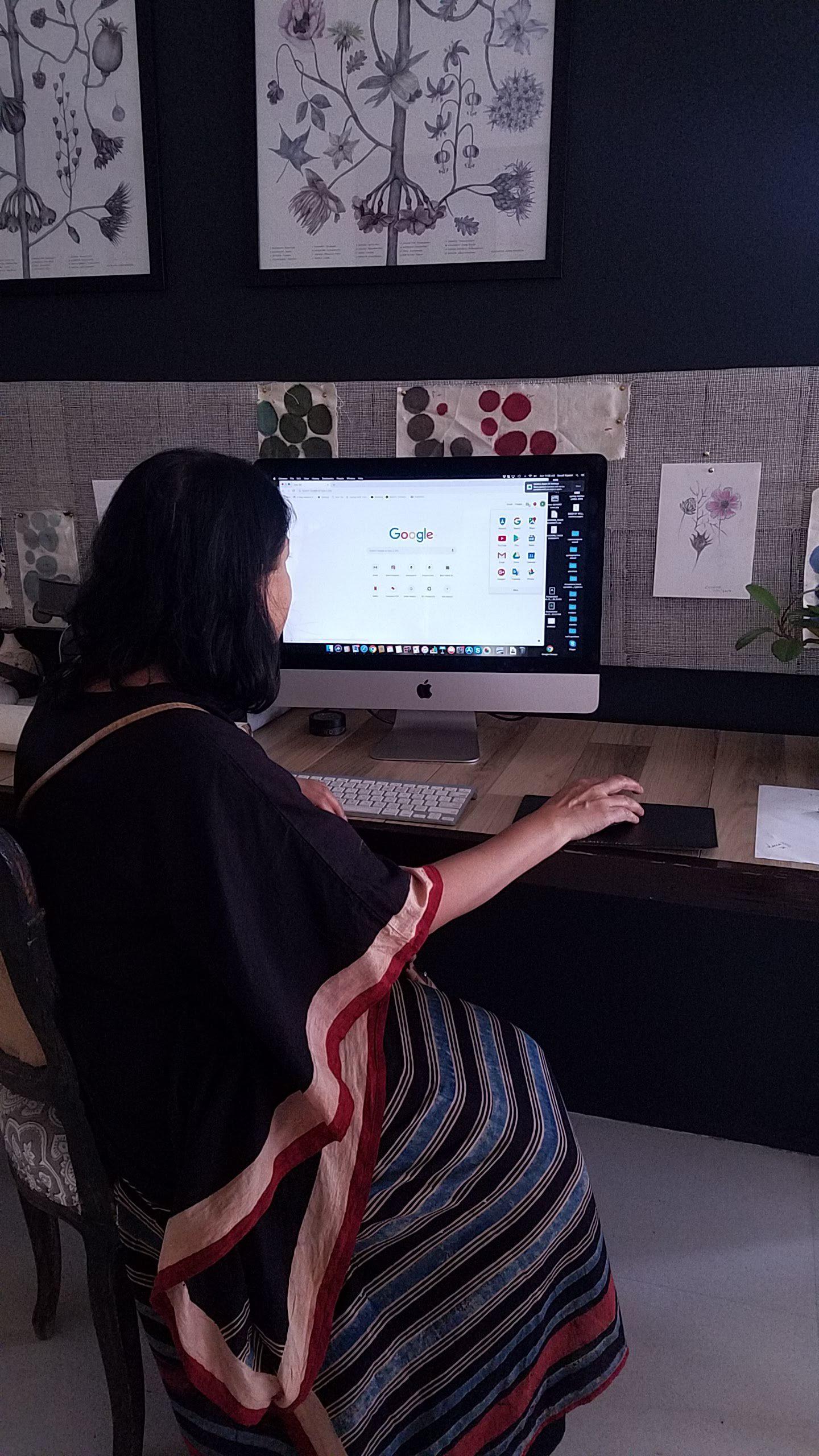 Sonali in her design studio.
