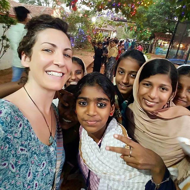 Taken about 2 years ago in Kannur, at Palayalum beach.  These sweet girls rushed me for a selfie,  I was happy to oblige.  Only a year prior,  it would have been the young boys who would boldly ask for a photo with a western woman, while the young girls watched shyly on.  I've noticed such a difference in confidence in young women on each visit.  May women's courage and boldness continue to thrive! Happy International women's day!