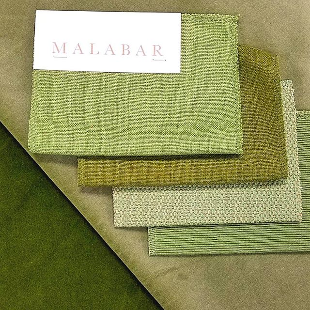 Sometimes it is easy being green.  Raw silk,  cotton velvet,  cotton/ linen. . . . #fabric #textiles #design #interiordesign #upholstery #plains #homedecor