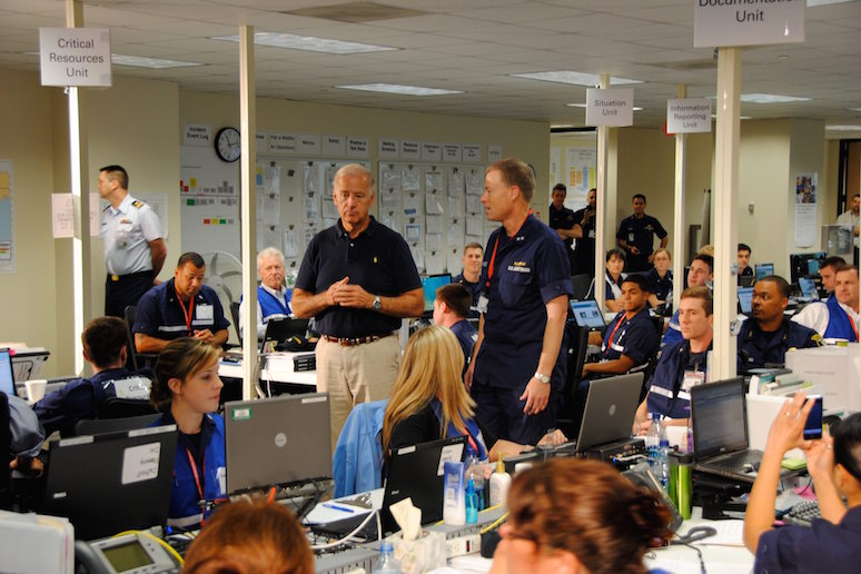 Joe Biden Deepwater Horizon Oil Spill Command Centre