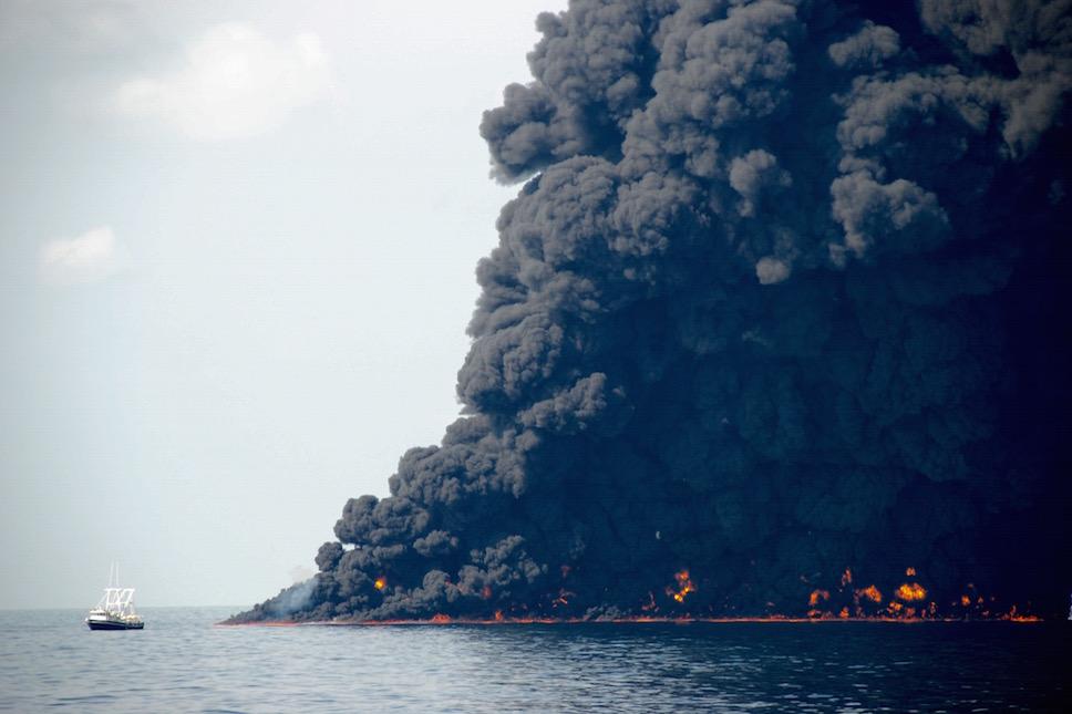 In Situ burn Gulf of Mexico oil spill