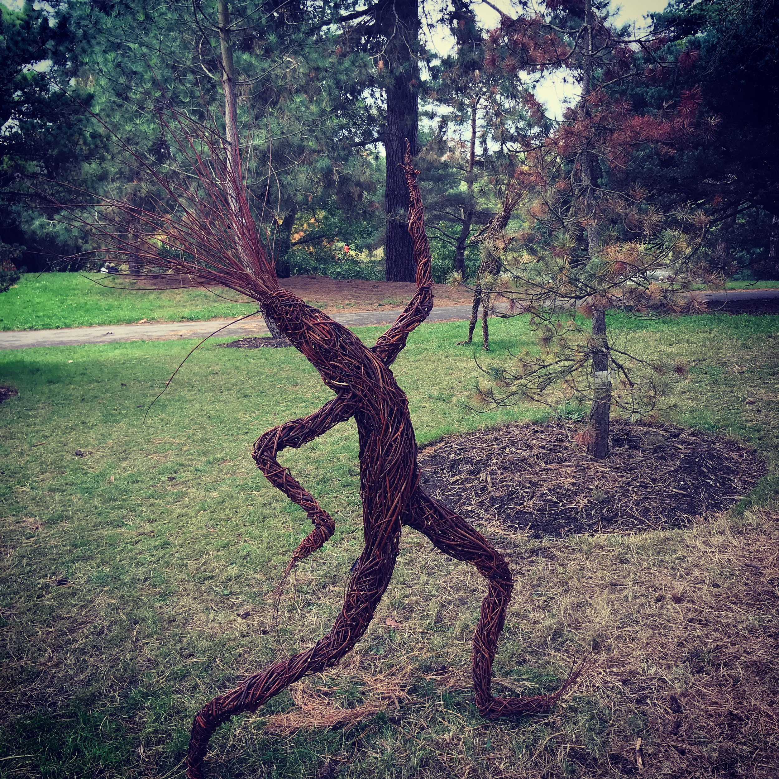 I was inspired by the dancing stick men at Kew Gardens.