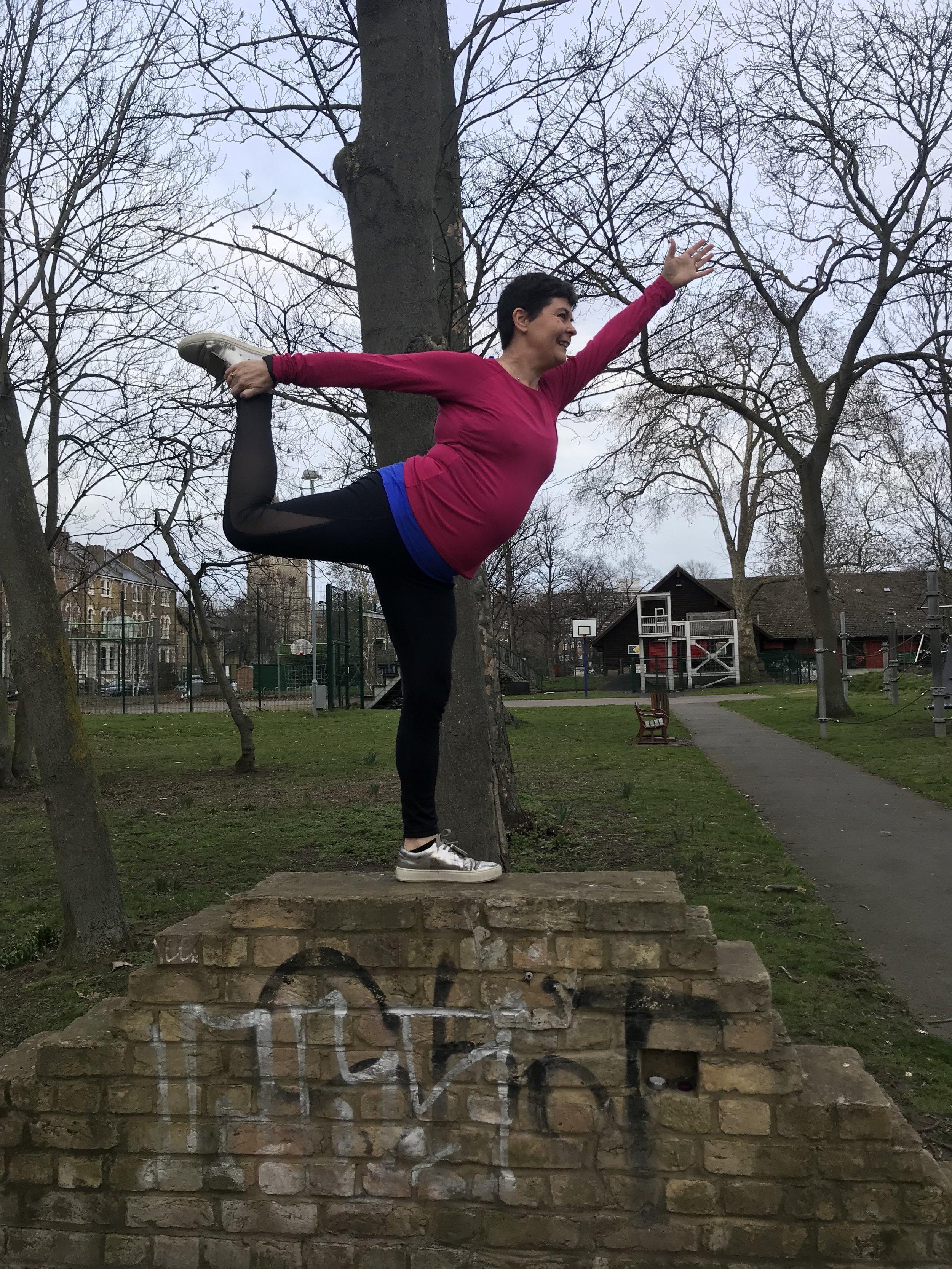 Finding my balance in dancer pose - natarajasana