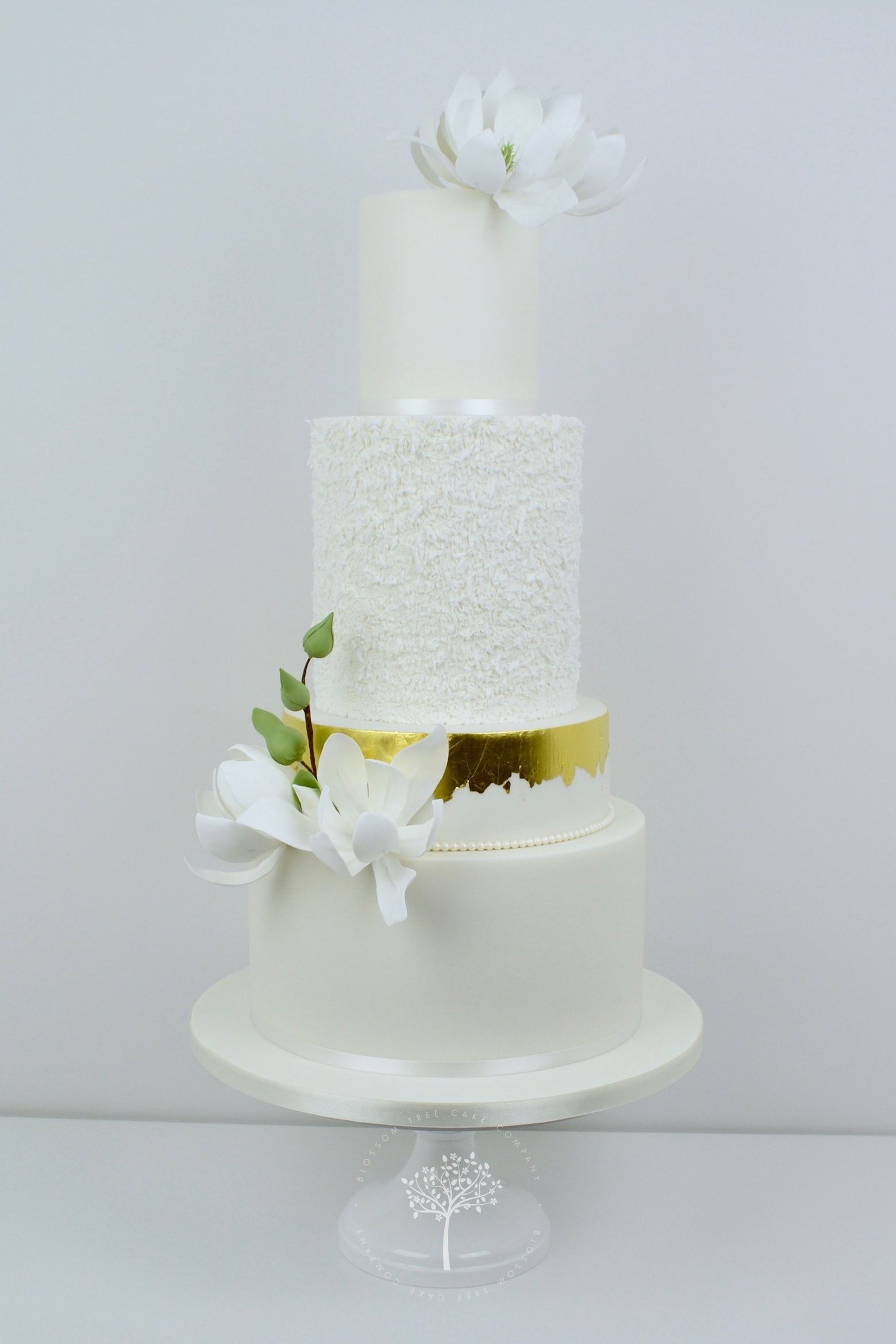 White Magnolias wedding cake by Blossom Tree Cake Company Harrogate North Yorkshire.jpg