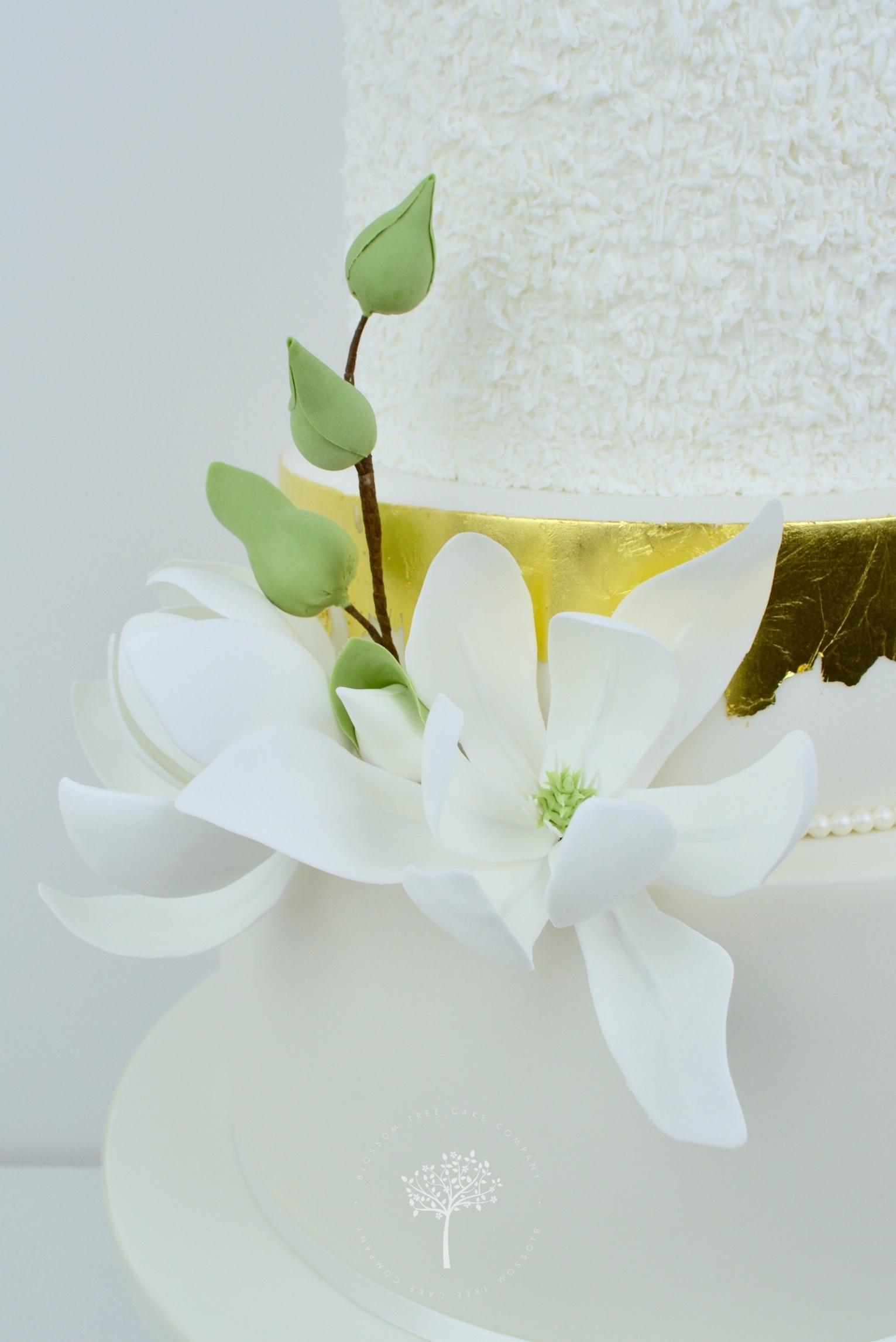 White Magnolias wedding cake by Blossom Tree Cake Company Harrogate North Yorkshire - magnolias.jpg