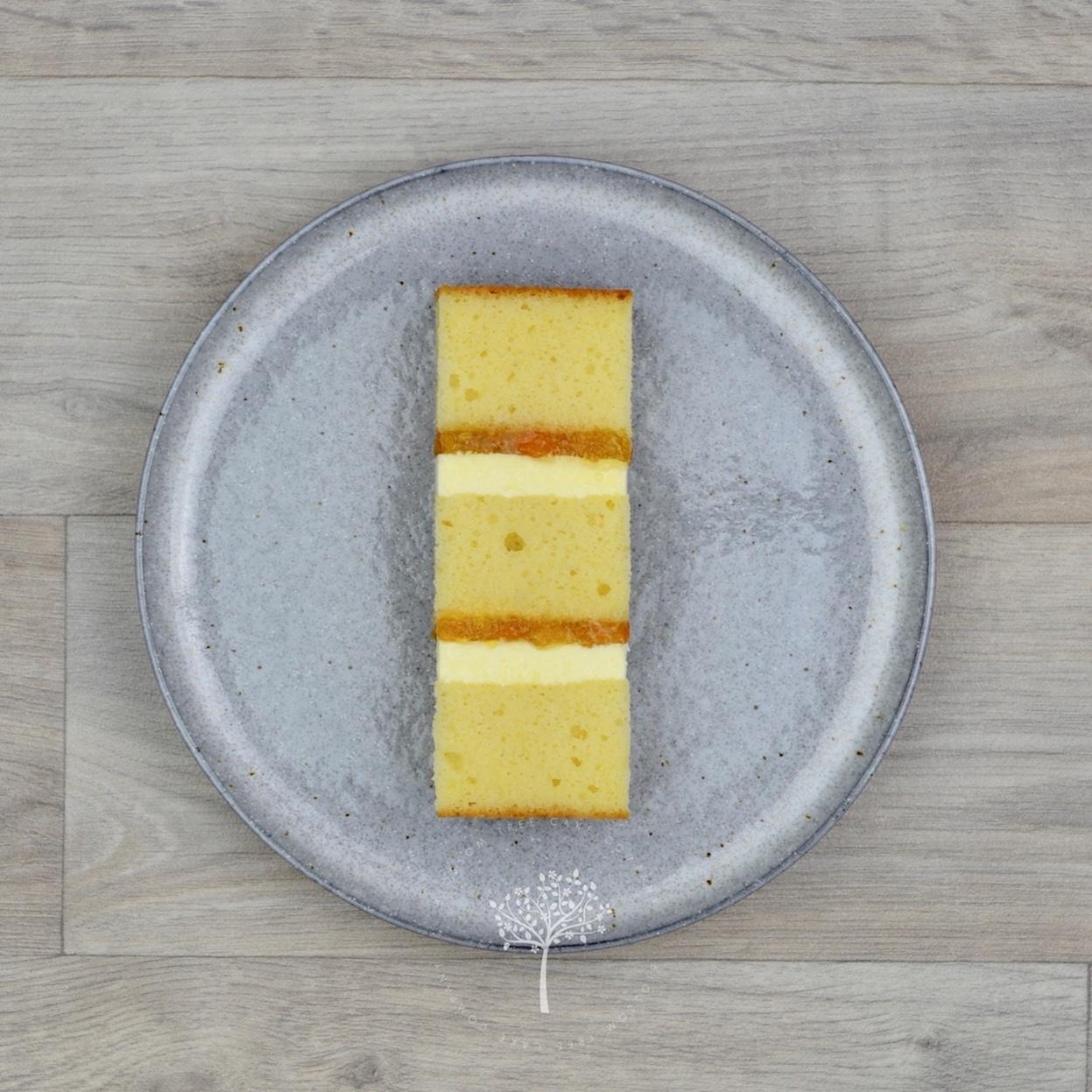 Peach & Prosecco sponge cake by Blossom Tree Cake Company Harrogate North Yorkshire.jpg