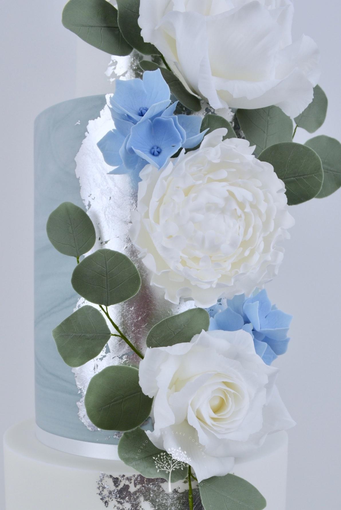 Peonies & Roses wedding cake by Blossom Tree Cake Company Harrogate North Yorkshire - sugar flowers.jpg