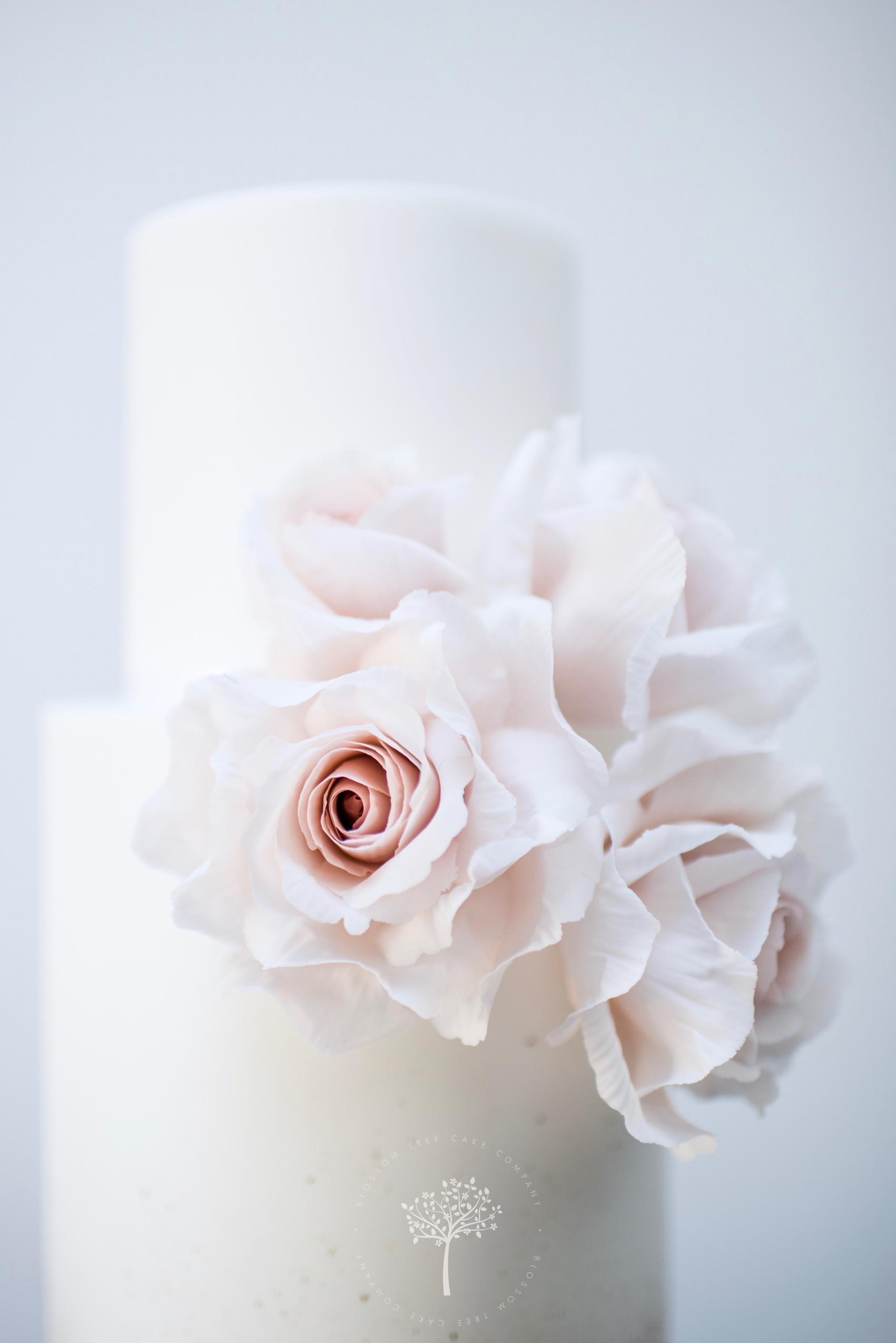 Origami Rose wedding cake by Blossom Tree Cake Company Harrogate North Yorkshire - top sugar roses.jpg