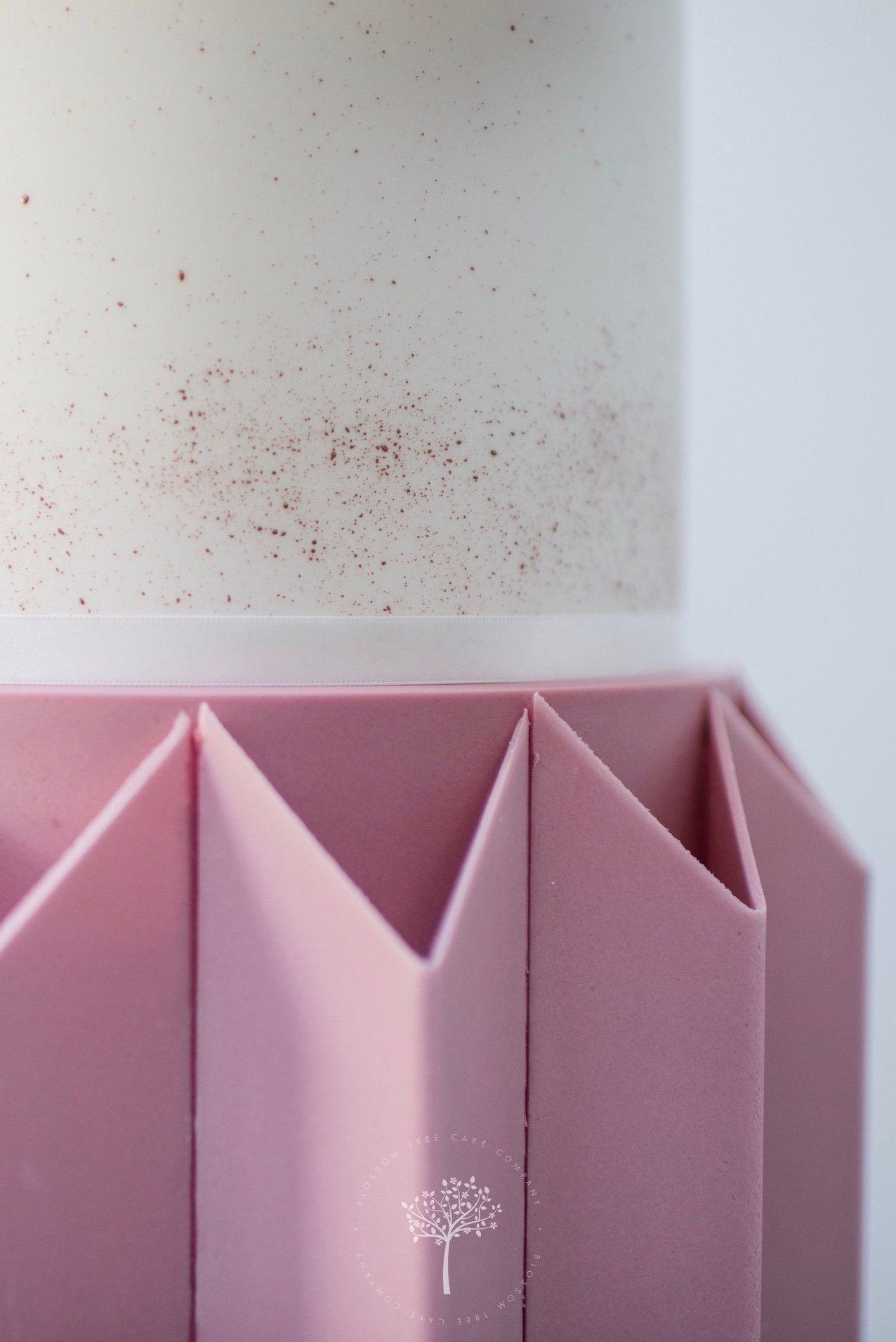 Origami Rose wedding cake by Blossom Tree Cake Company Harrogate North Yorkshire - copper splash.jpg