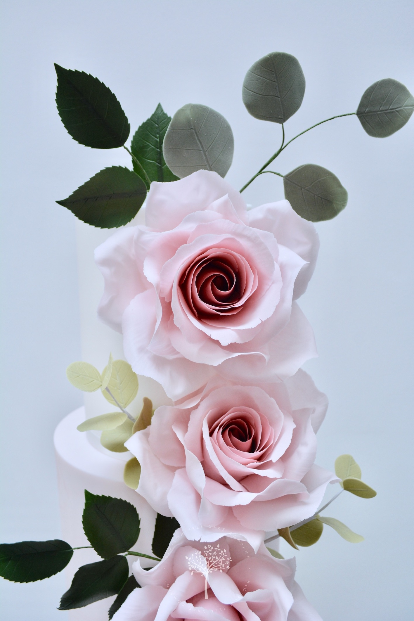 Garden Rose wedding cake by Blossom Tree Cake Company Harrogate North Yorkshire - top sugar rose.jpg