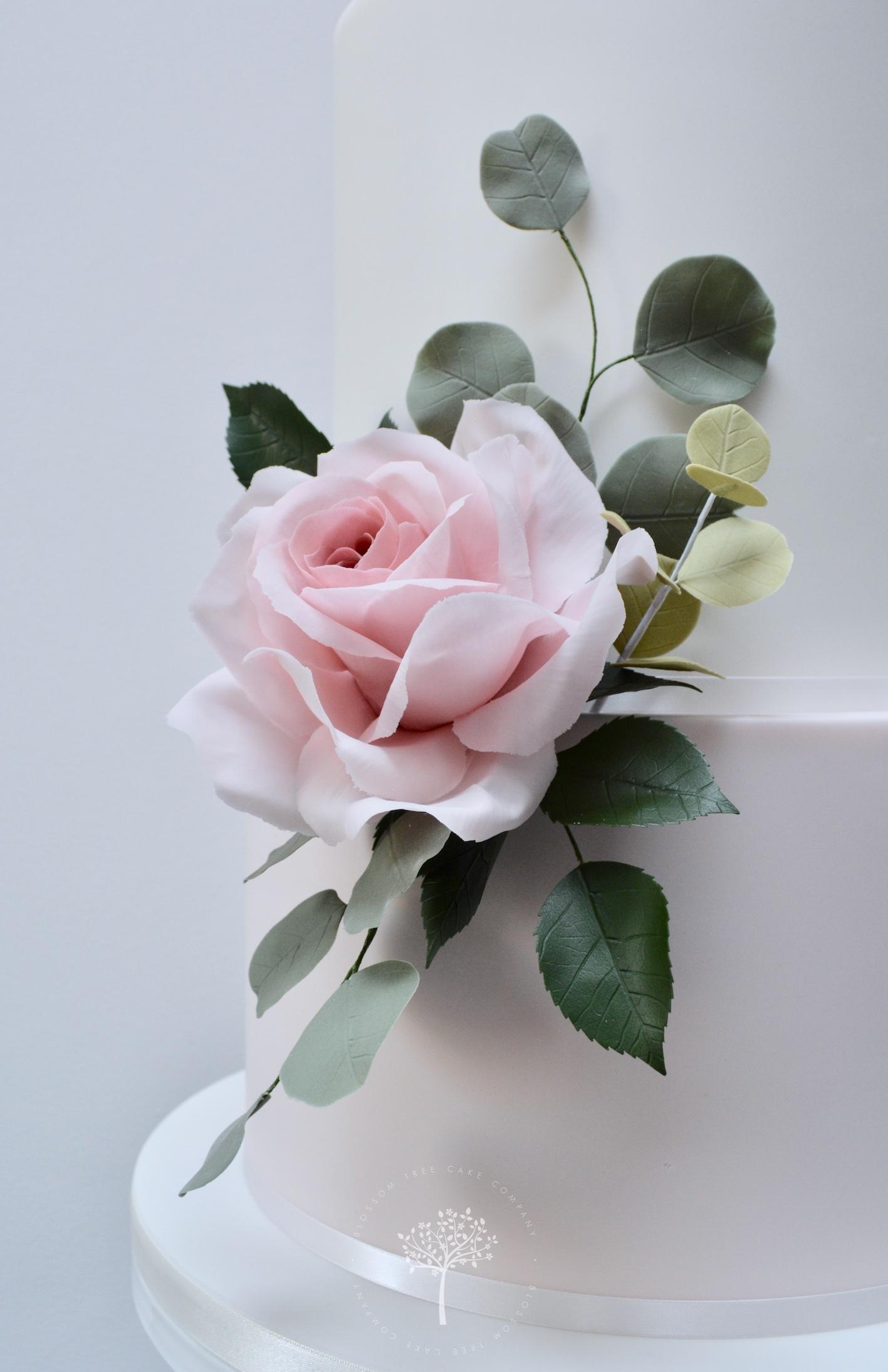 Garden Rose wedding cake by Blossom Tree Cake Company Harrogate North Yorkshire - sugar rose.jpg