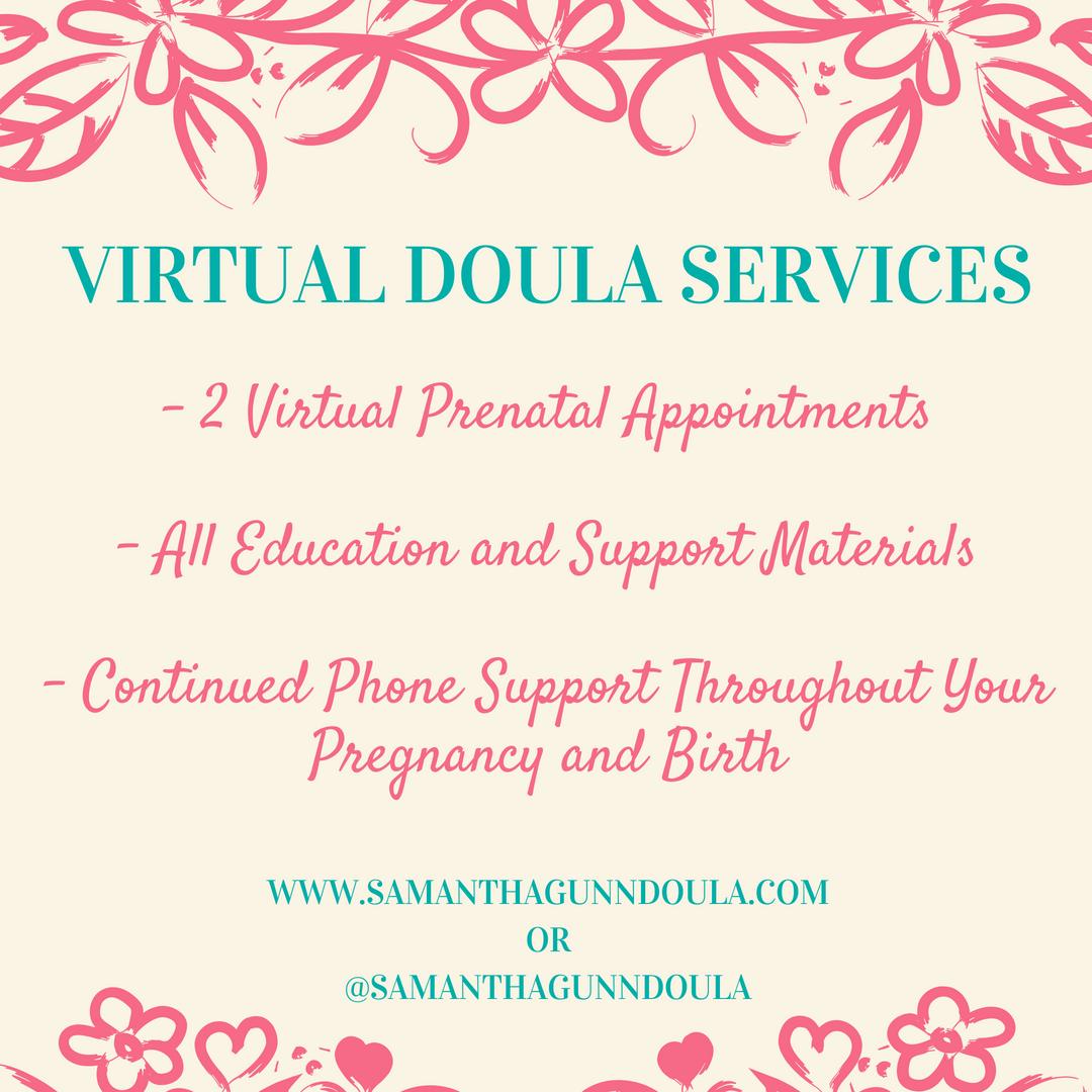 What's a Virtual Doula?? Samantha Gunn Doula