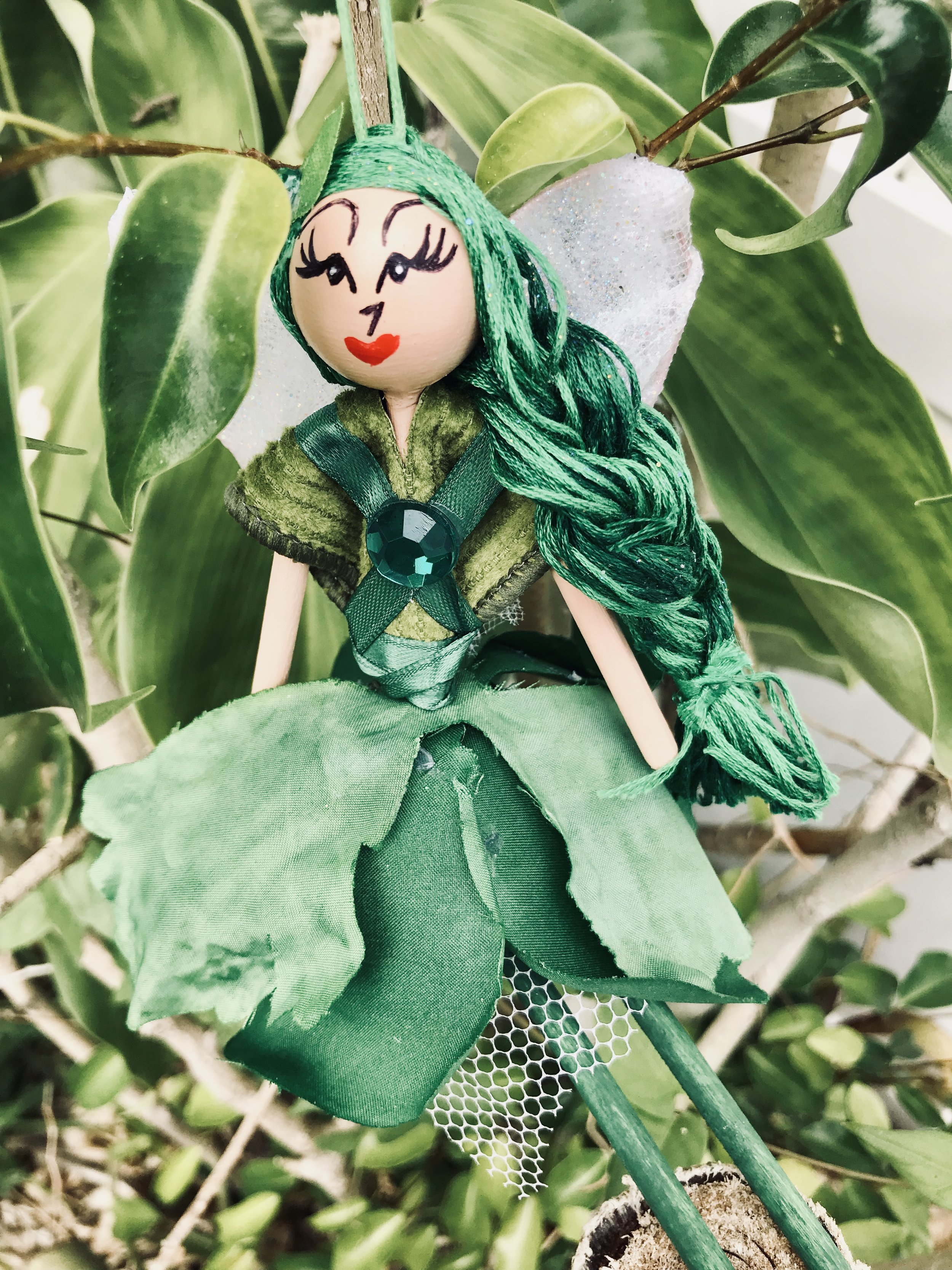 MAY ~Lady Emerald - May is full of magical gifts, and no one promotes them better than Lady Emerald. Born in the fifth and fortuitous month of the year, Lady Emerald represents spring's lush green energies of life and growth. Having her nearby inspires change in the right direction, and new found chi for achievements. Let her be a reminder that all of May's children share the same special gifts, and that it's never too late to let them sparkle.$20.00 (includes tax)