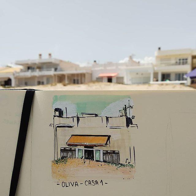 Aquí las casas están detrás de las dunas  Oliva - hogar1 #sketchbook #sketch #watercolor #acuarela #copic #pentel #artoninstagram #art #picoftheday #insta #instaartist #instagood #casa #home #beach #playa #spain #markers #home #holidays #oliva #olivaplaya #janadominguez #jana_dominguez