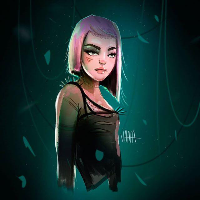 Sunday Doodle #illustration #art #doodle #sketch #artoftheday #artoninstagram #instaartist #insta #instagood #photoshop #picoftheday #artist #digitalart #wacom #colors #girl #scifiart #pinkhair #summer #ink #lightstudy ##characterdesign #janadominguez #jana_dominguez