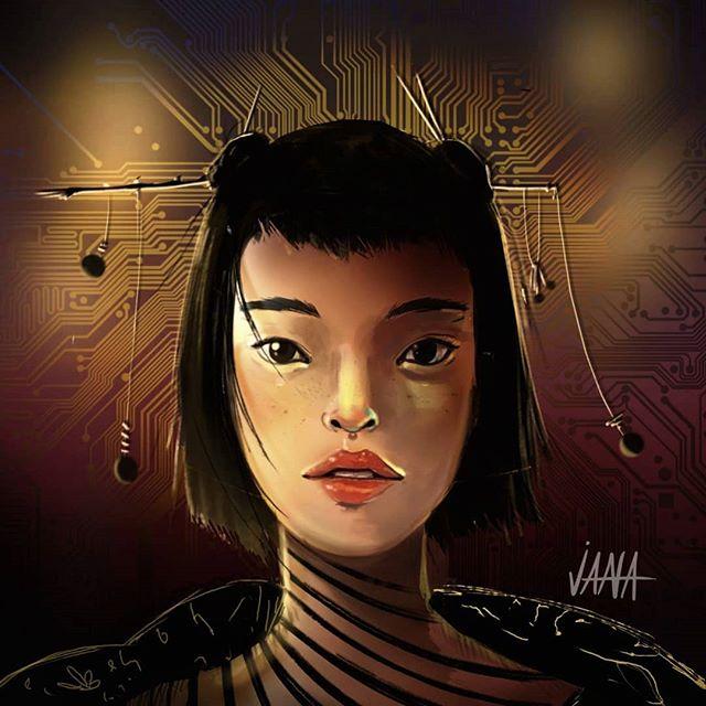 MOTHERBOARD  #illustration #digitalillustration #doodle #ilustracion  #conceptart #artoftheday #art #ink #artist #artoninstagram #picoftheday #geisha #japan #lightstudy #characterdesign #insta #instagood #instaart #girl #scifiart #cyberpunk #comic #blackwork #asiatic #beautiful #jana_dominguez