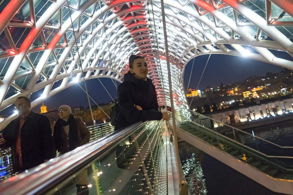 Огни ночного Тбилиси -