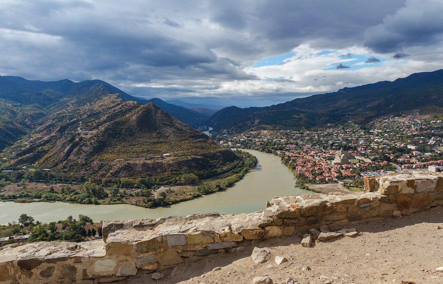Слияние рек Куры и Арагви -