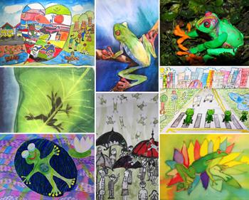 kids frog artwork