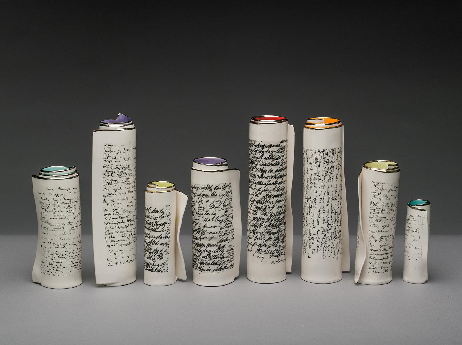 Scroll vases