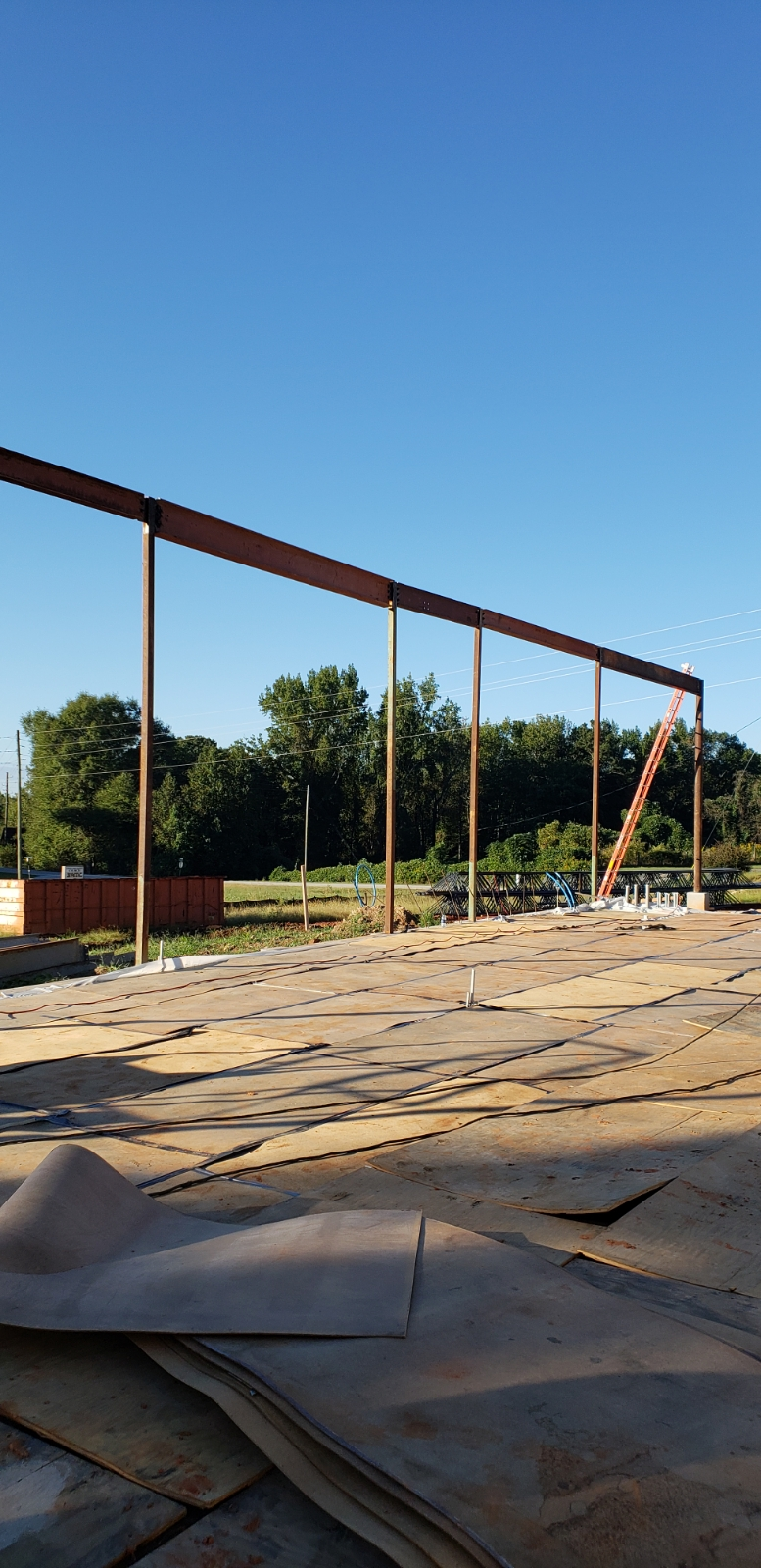Steel Framing for Window Wall Installed