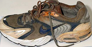 Salish Sea human feet in trainer