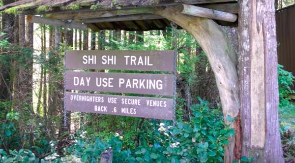 Shi Shi Trail entrance near Seattle