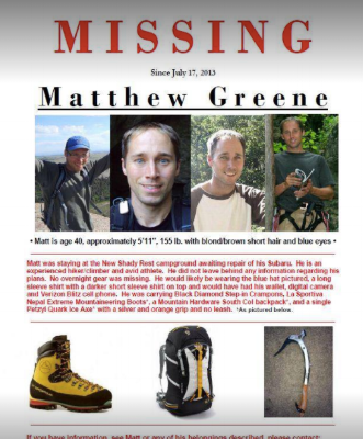 matthew greene disappearance poster