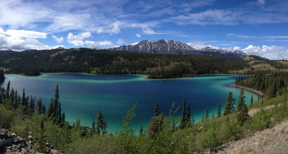 Reid Lakes in Canada's Yukon Territory
