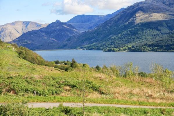 Views over Loch Duich Western highlands
