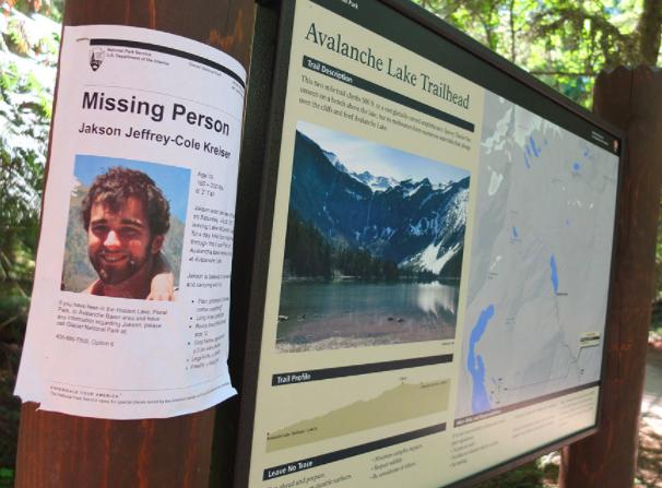 Jakson Kreiser missing person poster