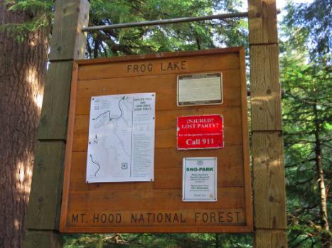 Mount hood national forest Frog Lake