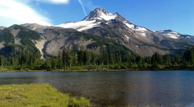 Russell Lake and Mount Jefferson