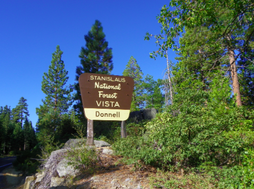 Donnell Vista Point Sign