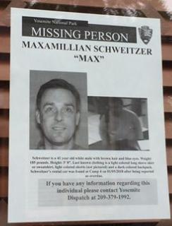 """Maximillian """"Max"""" L. Schweitzer missing poster"""