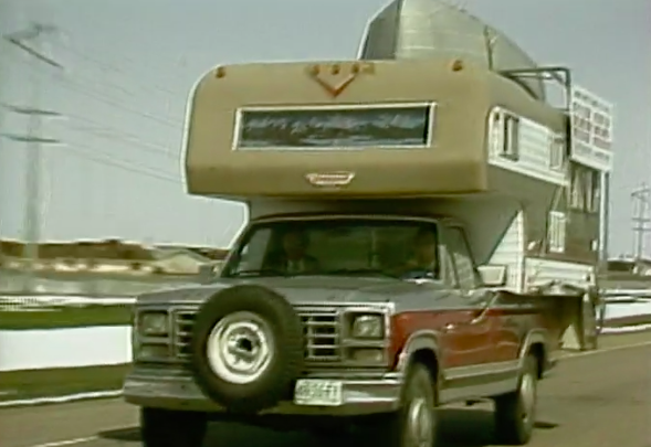 Replica of the Bentleys' 1981 Ford camper truck