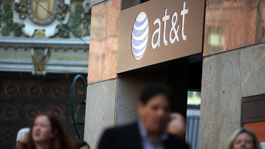 An AT&T store in San Francisco, Calif. The telecom firm plans to split its operations into two divisions after the completion of its takeover of Time Warner Inc