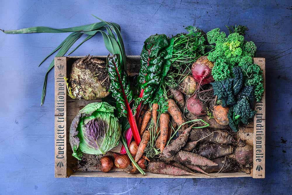 Seasonal and Local vegetables grown at Tomnah'a - my local market garden