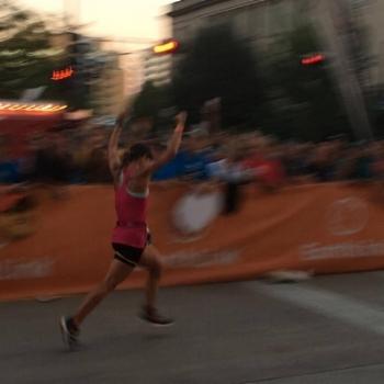 Ironman Wisconsin finish line. 9/11/2016