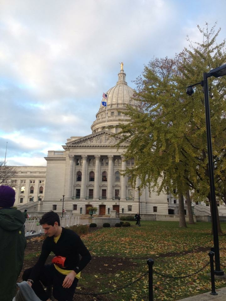 The state capital! We start on one side and finish on the other.