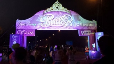 Start line of the Disney Princess Half Marathon!