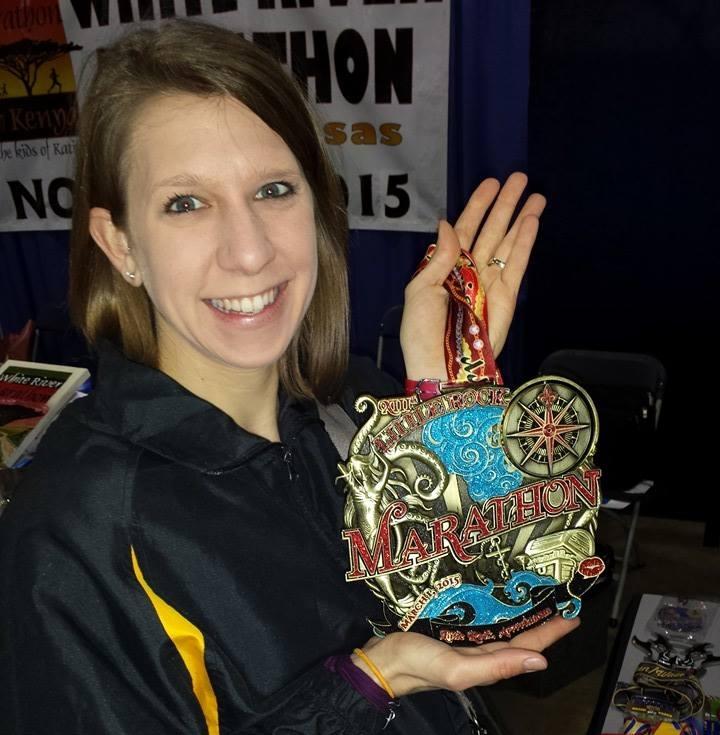 The full marathon medal was huge!