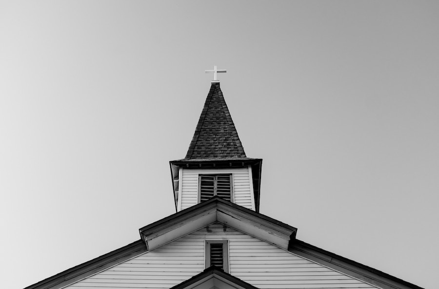 church steeple BW.jpg