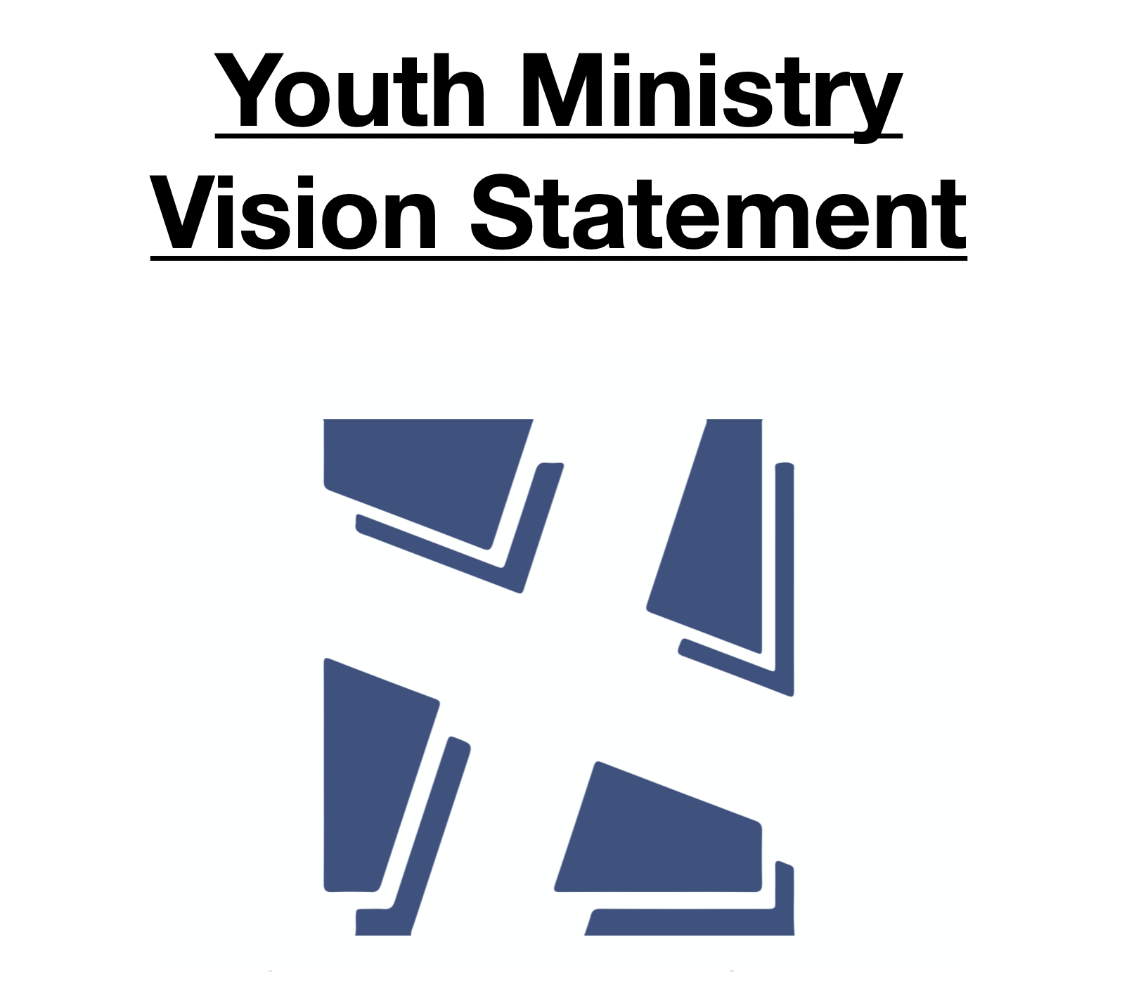 """Youth Ministry Vision Statement - """"The Landing Youth Ministry aims to partner with parents in raising up young men and women who savor, strengthen, and spread hope in Jesus Christ to the glory of God!""""If you would like to read our full vision statement, please click the image on the left."""