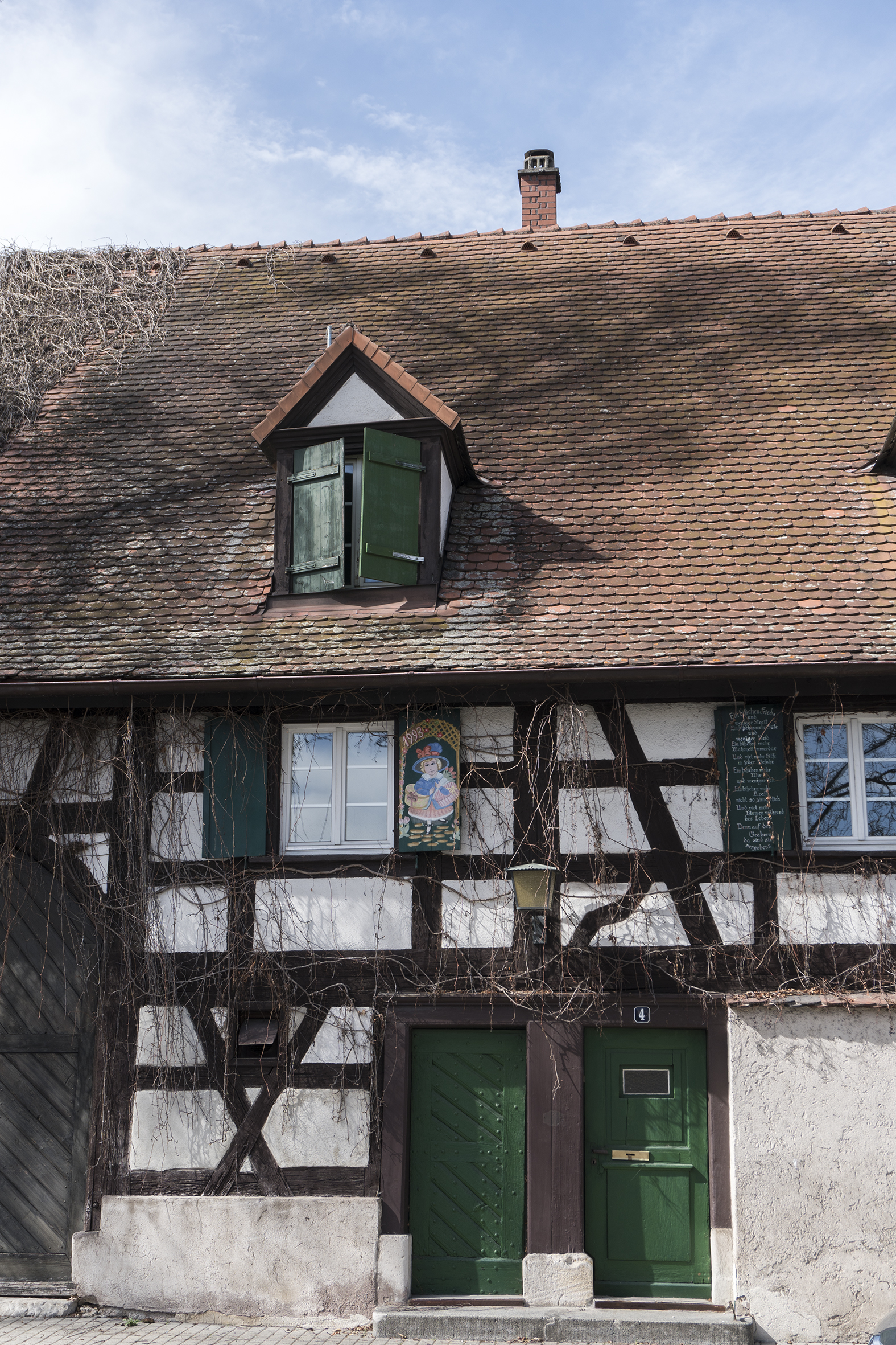 Mediaeval half-timbered facades...