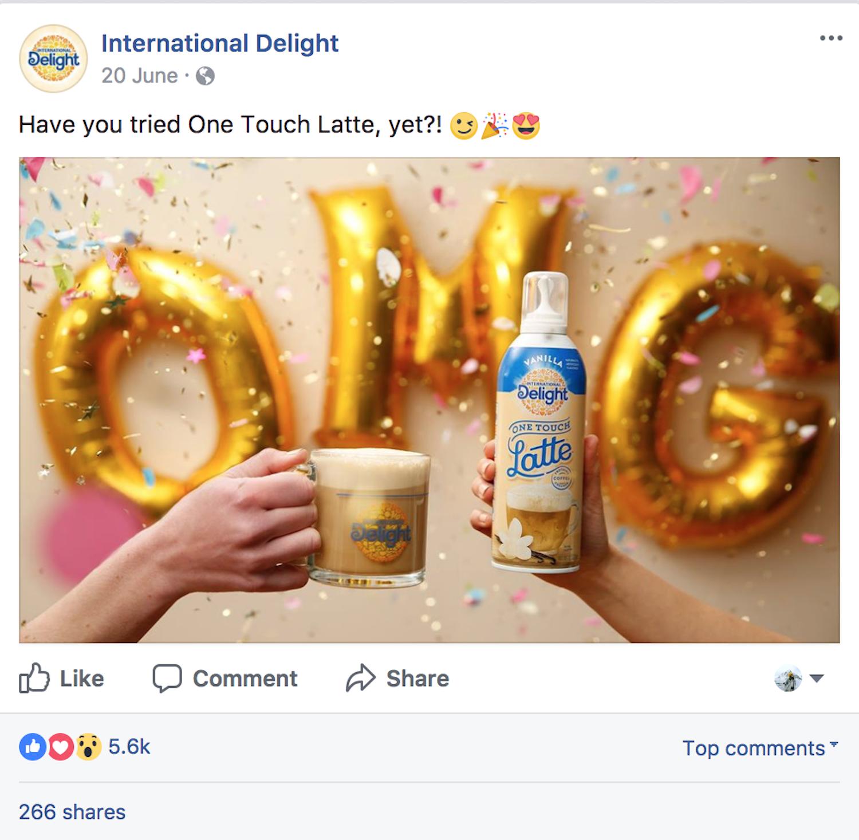 Social media post for International Delight